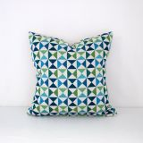 Throw Pillow Made With Sunbrella Array Calypso 145654-0002
