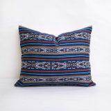 Throw Pillow Made With Sunbrella Artistry Indigo 145340-0001