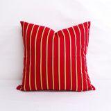 Throw Pillow Made With Sunbrella Harwood Crimson 5603-0000