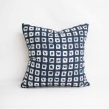 Throw Pillow Made With Sunbrella Kindle Indigo 145666-0004 - Reversible (Dark Side)