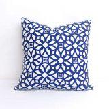 Throw Pillow Made With Sunbrella Luxe Indigo 45690-0000