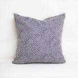 Throw Pillow Made With Sunbrella Shibori Classic 145360-0011
