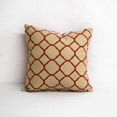 Throw Pillow Made With Sunbrella Accord Crimson 45936-0000 - Reversible (Light Side)