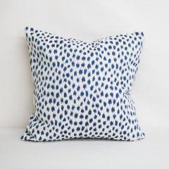 Throw Pillow Made With Sunbrella Agra Indigo 145147-0000 - Reversible (Light Side)