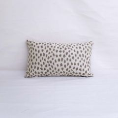 Throw Pillow Made With Sunbrella Agra Pebble 145147-0002 - Reversible (Light Side)
