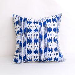 Throw Pillow Made With Sunbrella Arapaho Moonbeam