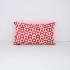 Throw Pillow Made With Sunbrella Array Sangria 145654-0005
