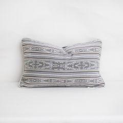 Throw Pillow Made With Sunbrella Artistry Ash 145340-0002