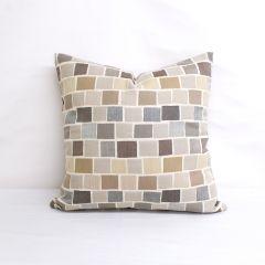 Throw Pillow Made With Sunbrella Blox Slate 45542-0000