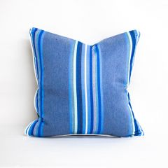 Throw Pillow Made With Sunbrella Blurred Lines Ocean 50883
