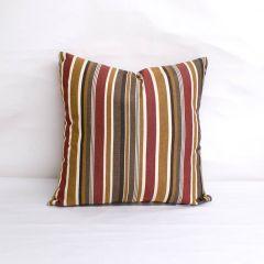Throw Pillow Made With Sunbrella Brannon Redwood 5612-0000