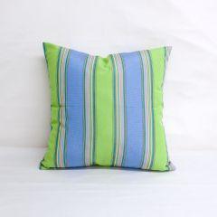 Throw Pillow Made With Sunbrella Bravada Limelite 5602-0000