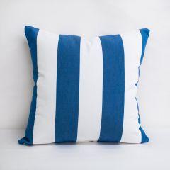 Throw Pillow Made With Sunbrella Cabana Regatta 58029-0000