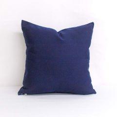 Throw Pillow Made With Sunbrella Canvas Navy 5439-0000