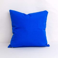 Throw Pillow Made With Sunbrella Canvas Pacific Blue 5401-0000