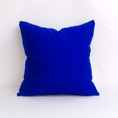Throw Pillow Made With Sunbrella Canvas True Blue 5499-0000