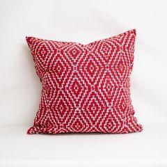 Throw Pillow Made With Sunbrella Capra Crimson 145600-0004