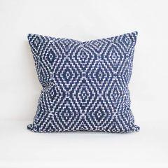 Throw Pillow Made With Sunbrella Capra Indigo 145600-0002