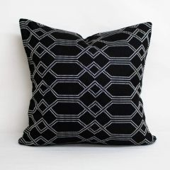 Throw Pillow Made With Sunbrella Connection Onyx 145153-0000