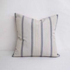 Throw Pillow Made With Sunbrella Cove Pebble 58036-0000