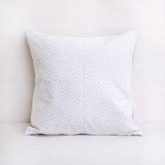 Throw Pillow Made With Sunbrella Crete Cloud 44353-0011