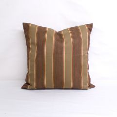 Throw Pillow Made With Sunbrella Davidson Redwood 5606-0000