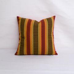Throw Pillow Made With Sunbrella Dimone Sequoia 8031-0000