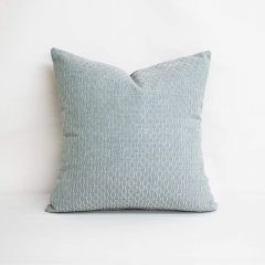 Throw Pillow Made With Sunbrella Dimple Mist 46061-0013