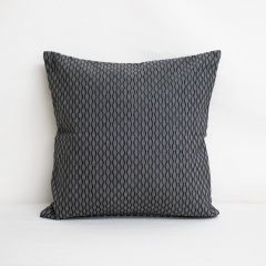 Throw Pillow Made With Sunbrella Dimple Smoke 46061-0014