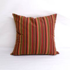 Throw Pillow Made With Sunbrella Dorsett Cherry 56059-0000