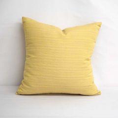 Throw Pillow Made With Sunbrella Dupione Cornsilk 8012-0000