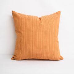 Throw Pillow Made With Sunbrella Dupione Nectarine 8064-0000