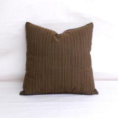 Throw Pillow Made With Sunbrella Dupione Walnut 8017-0000