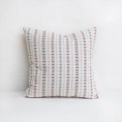 Throw Pillow Made With Sunbrella Esti Crimson 44349-0025