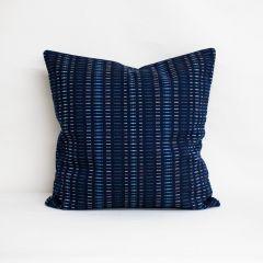 Throw Pillow Made With Sunbrella Esti Indigo 44349-0026