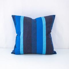 Throw Pillow Made With Sunbrella Gateway Indigo 56102-0000