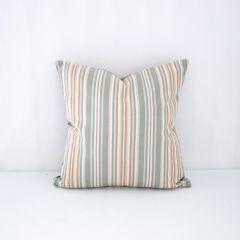Throw Pillow Made With Sunbrella Gavin Mist 56052-0000