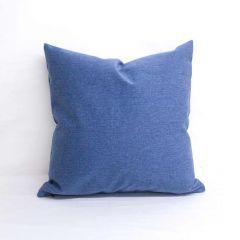 Throw Pillow Made With Sunbrella Renaissance Heritage Denim 18010-0000