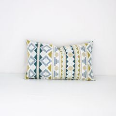 Throw Pillow Made With Sunbrella Inca Lime 145407-0001
