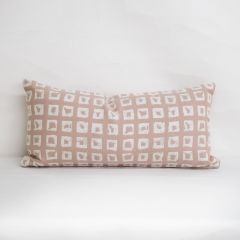 Throw Pillow Made With Sunbrella Kindle Blush 145666-0001 - Reversible (Dark Side)