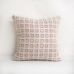 Throw Pillow Made With Sunbrella Kindle Blush 145666-0001 - Reversible (Light Side)