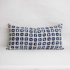 Throw Pillow Made With Sunbrella Kindle Indigo 145666-0004 - Reversible (Light Side)