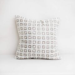 Throw Pillow Made With Sunbrella Kindle Silk 145666-0002 - Reversible (Light Side)