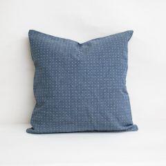 Throw Pillow Made With Sunbrella Lure Denim 44370-0006
