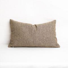 Throw Pillow Made With Sunbrella Mainstreet Latte 42048-0009
