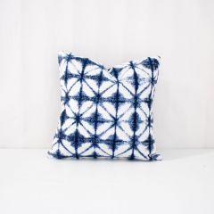 Throw Pillow Made With Sunbrella Midori Indigo 145256-0001