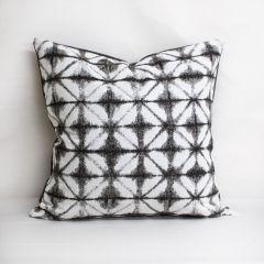 Throw Pillow Made With Sunbrella Midori Stone 145256-0005