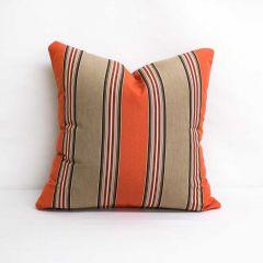 Throw Pillow Made With Sunbrella Passage Poppy 56071-0000