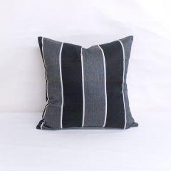 Throw Pillow Made With Sunbrella Peyton Granite 56075-0000
