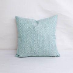 Throw Pillow Made With Sunbrella Posh Aqua 44157-0017